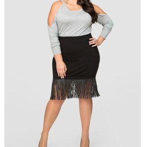 TORRID Insider Collection Fringed Pencil Skirt